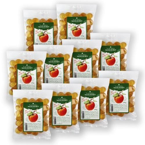 Apfelsaft- Fruchtgummis aus Apfelsaft regional geernteter Früchte, Partypaket klein, 10x200g