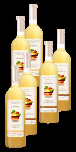 Apfelsaft von Streuobstwiesen - Sechser