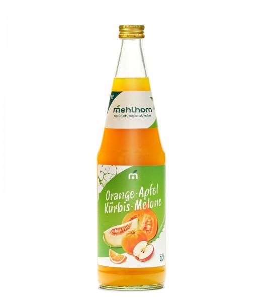 Orange- Apfel- Kürbis- Melone- Mehrfruchtgetränk