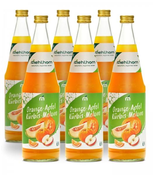 Orange- Apfel- Kürbis- Melone- Mehrfruchtgetränk Sechser